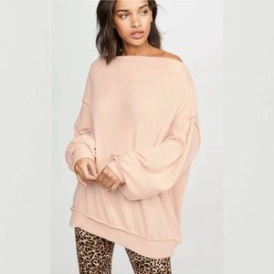 Free People Pink Nectar Main Squeeze Tunic Top
